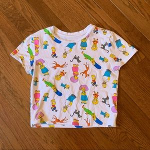 White cropped Simpson's T-shirt